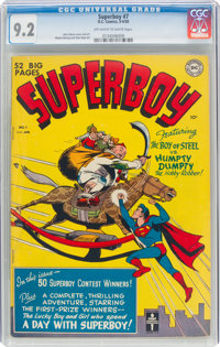 Superboy #7 (DC, 1950) CGC NM- 9.2 Off-white to white pages