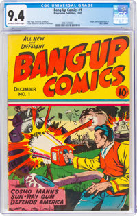 Bang-Up Comics #1 (Progressive Publishers, 1941) CGC NM 9.4 Off-white to white pages