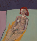 Paintings, Brian Bourke (Irish, b. 1936). Portrait of a Woman, 1965. Oil on canvas. 50 x 45 inches (127 x 114.3 cm). Signed, dated,...