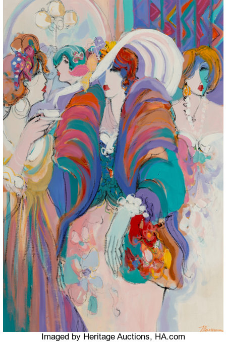 Isaac Maimon (Israeli, b. 1951)At the SoireeOil on canvas47-1/2 x 31-1/2 inches (120.7 x 80.0 cm)Signed lower ri...