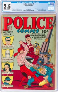Police Comics #1 (Quality, 1941) CGC GD+ 2.5 Off-white to white pages