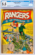 Golden Age (1938-1955):War, Rangers Comics #1 (Fiction House, 1941) CGC FN- 5.5 Off-white to white pages....