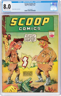 Scoop Comics #1 (Chesler, 1941) CGC VF 8.0 Off-white to white pages