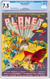 Planet Comics #6 (Fiction House, 1940) CGC VF- 7.5 Cream to off-white pages