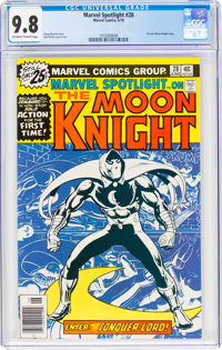 Marvel Spotlight #28 Moon Knight (Marvel, 1976) CGC NM/MT 9.8 Off-white to white pages