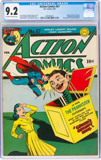 Action Comics #57 (DC, 1943) CGC NM- 9.2 Off-white to white pages
