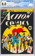 Golden Age (1938-1955):Superhero, Action Comics #52 (DC, 1942) CGC VF 8.0 Off-white to white pages....