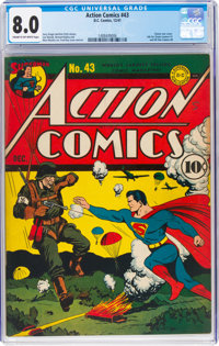 Action Comics #43 (DC, 1941) CGC VF 8.0 Cream to off-white pages