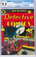 Golden Age (1938-1955):Superhero, Detective Comics #63 (DC, 1942) CGC NM- 9.2 Off-white to white pages....