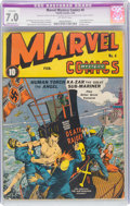 Golden Age (1938-1955):Superhero, Marvel Mystery Comics #4 (Timely, 1940) CGC Apparent FN/VF 7.0 Moderate (P) Off-white pages....