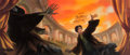 Memorabilia:Print, Harry Potter and the Deathly Hallows Limited Edition Print by Mary GrandPre (JK Rowling, 2007).. ...