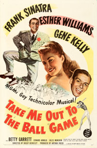 """Take Me Out to the Ball Game (MGM, 1949). Folded, Very Fine-. One Sheet (27"""" X 41"""")"""
