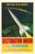 """Movie Posters:Science Fiction, Destination Moon (Pathé, 1950). Very Fine- on Linen. One Sheet (27"""" X 41.25"""").. ..."""