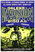 "Movie Posters:Science Fiction, Daleks Invasion Earth (Lion International, 1966). Folded, Very Fine-. Silk Screen British One Sheet (27"" X 40"").. ..."