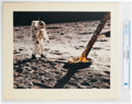 Explorers:Space Exploration, NASA: Buzz Aldrin Walking on the Lunar Surface Next to the Lunar Module NASA Color Photo on Presentation Mat Directly From The...