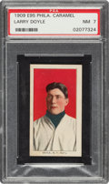 Baseball Cards:Singles (Pre-1930), 1909 E95 Philadelphia Caramel Larry Doyle PSA NM 7 - Pop Three, None Higher. ...