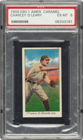 Baseball Cards:Singles (Pre-1930), 1909-11 E90-1 American Caramel Charley O'Leary PSA EX-MT 6 - Pop Two, One Higher. ...