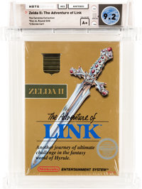 Zelda II: The Adventure of Link [Rev-A, Round SOQ] - Carolina Collection Wata 9.2 A+ Sealed NES Nintendo 1988 USA