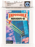 Video Games:Nintendo, Impossible Mission II [Made in USA] - Carolina Collection Wata 9.8 A++ Sealed NES SEI 1989 USA....