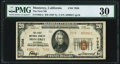 National Bank Notes, Monterey, CA - $20 1929 Ty. 2 The First National Bank Ch. # 7058 PMG Very Fine 30.. ...