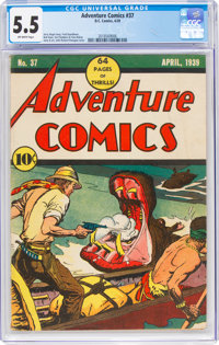 Adventure Comics #37 (DC, 1939) CGC FN- 5.5 Off-white pages