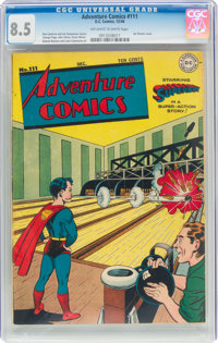 Adventure Comics #111 (DC, 1946) CGC VF+ 8.5 Off-white to white pages