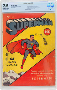 Superman #2 (DC, 1939) CBCS GD+ 2.5 Off-white to white pages