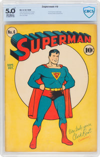 Superman #6 (DC, 1940) CBCS VG/FN 5.0 Off-white pages