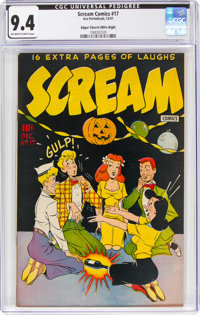 Scream Comics #17 Mile High Pedigree (Ace Periodicals, 1947) CGC NM 9.4 Off-white to white pages
