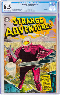Strange Adventures #50 (DC, 1954) CGC FN+ 6.5 Cream to off-white pages