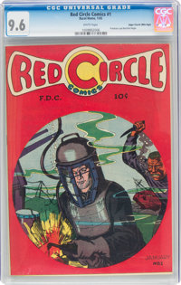 Red Circle Comics #1 Mile High Pedigree (Rural Home, 1945) CGC NM+ 9.6 White pages