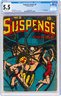 Suspense Comics #8 (Continental Magazines, 1945) CGC FN- 5.5 Off-white pages