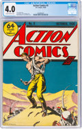 Golden Age (1938-1955):Superhero, Action Comics #5 (DC, 1938) CGC VG 4.0 Slightly brittle pages....