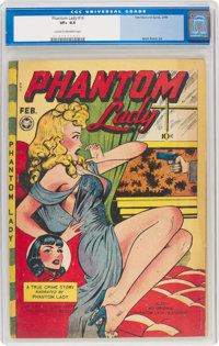 Phantom Lady #16 (Fox Features Syndicate, 1948) CGC VF+ 8.5 Cream to off-white pages