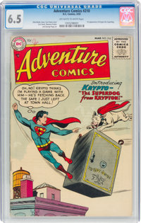 Adventure Comics #210 (DC, 1955) CGC FN+ 6.5 Off-white to white pages