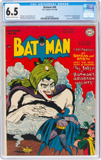 Batman #49 (DC, 1948) CGC FN+ 6.5 Cream to off-white pages