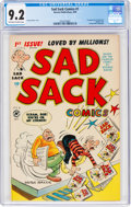 Golden Age (1938-1955):Cartoon Character, Sad Sack Comics #1 (Harvey, 1949) CGC NM- 9.2 Off-white to white pages....