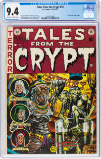Tales From the Crypt #33 (EC, 1952) CGC NM 9.4 Off-white to white pages