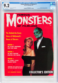 Famous Monsters of Filmland #1 (Warren, 1958) CGC NM- 9.2 White pages