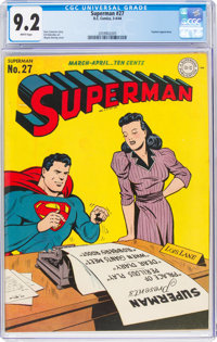 Superman #27 (DC, 1944) CGC NM- 9.2 White pages