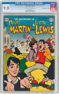 "Golden Age (1938-1955):Humor, Adventures of Dean Martin and Jerry Lewis #1 Davis Crippen (""D"" Copy) Pedigree (DC, 1952) CGC VF/NM 9.0 Off-white to white pag..."