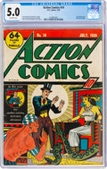 Golden Age (1938-1955):Superhero, Action Comics #14 (DC, 1939) CGC VG/FN 5.0 Off-white pages....