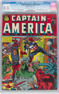 Captain America Comics #10 (Timely, 1942) CGC VF+ 8.5 Cream to off-white pages