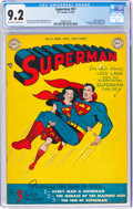 Golden Age (1938-1955):Superhero, Superman #57 (DC, 1949) CGC NM- 9.2 Off-white to white pages....
