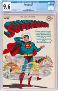 Golden Age (1938-1955):Superhero, Superman #40 (DC, 1946) CGC NM+ 9.6 Off-white to white pages....