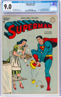 Golden Age (1938-1955):Superhero, Superman #51 (DC, 1948) CGC VF/NM 9.0 Off-white to white pages....