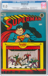 Superman #22 (DC, 1943) CGC VF/NM 9.0 White pages