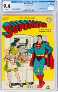 Superman #36 (DC, 1945) CGC NM 9.4 White pages