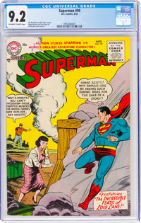 Superman #99 (DC, 1955) CGC NM- 9.2 Off-white to white pages