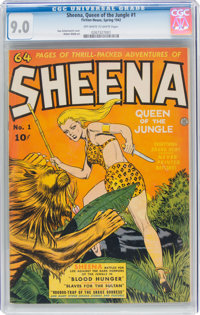 Sheena, Queen of the Jungle #1 (Fiction House, 1942) CGC VF/NM 9.0 Off-white to white pages